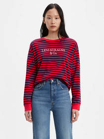 Levi's Graphic Striped Longsleeve Tee Shirt