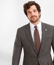 Brooks Brothers Regent Fit Two-Button Grey Black 1