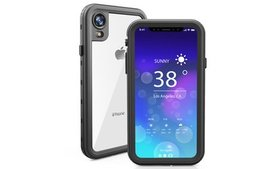 For iPhone XR Waterproof Case With Built in Screen