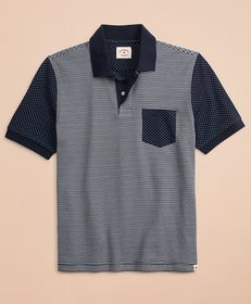 Brooks Brothers Striped & Dotted Double-Knit Jacqu