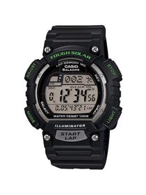 Men's Solar Powered Runner Watch with Black Resin