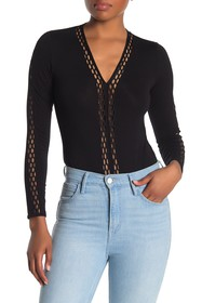 French Connection Rosamonde Cutout Long Sleeve Bod