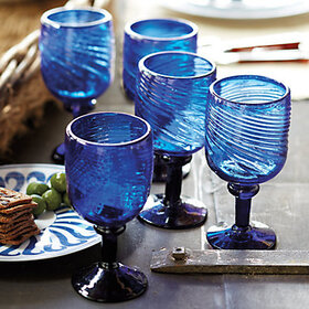 Bunny Williams Cobalt Goblets - Set of 4