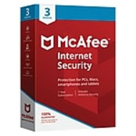 McAfee Internet Security for 3 Devices (1-3 Users)