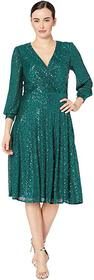 Tahari by ASL Long Sleeve Fully Sequin Dress