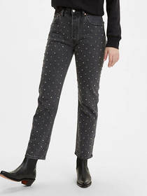 Levi's 501® Original Cropped Studded Women's Jeans