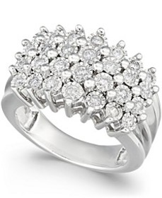 Diamond Multi-Row Ring (1/2 ct. t.w.) in Sterling