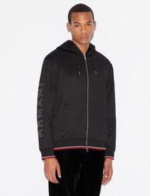 Armani JERSEY FLEECE CARDIGAN WITH HOOD
