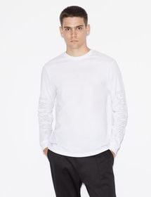 Armani REGULAR FIT T-SHIRT WITH LONG SLEEVES