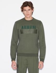 Armani PULLOVER WITH LOGO LETTERING