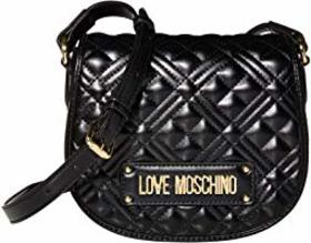 LOVE Moschino Quilted Small Saddle Bag