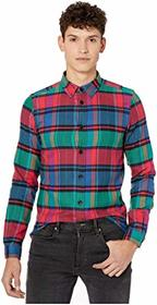 Paul Smith Tailored Fit Printed Denim Button-Down