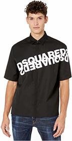 DSQUARED2 Mirrored Logo Print Shirt