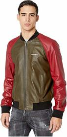 DSQUARED2 Raglan Sleeve Leather Track Jacket