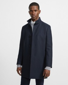 Traceable Melton Belvin Coat