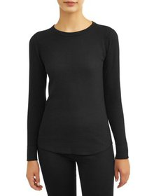Hanes Women's X-Temp Thermal Waffle Crew Top with