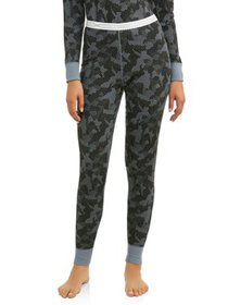 Hanes Women's X-Temp Thermal Waffle Printed Pant w