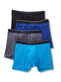 Perry Ellis Portfolio 4 Pack 1X1 Rib Cotton Boxer