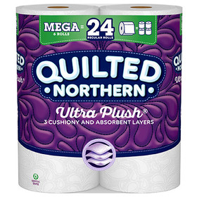 Quilted Northern Ultra Plush Toilet Paper, 6 Rolls