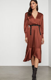 BCBG Belted Blouson Dress
