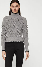 BCBG Popcorn Stitch Turtleneck Sweater