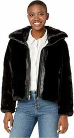 Cole Haan Faux Fur Jacket w/ Convertible Stand Col