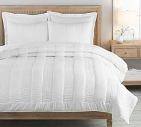 Pottery Barn Washed TENCEL™ Quilt & Shams - White