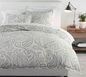 Pottery Barn Darya Painterly Paisley Organic Satee