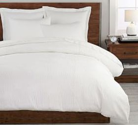 Pottery Barn Beck Ruched Cotton Duvet Cover & Sham