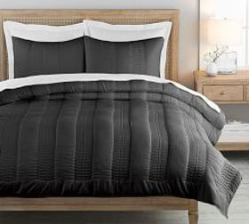 Pottery Barn Washed TENCEL™ Quilt & Shams - Charco