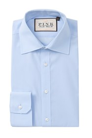 THOMAS PINK Traveler Classic Fit Solid Dress Shirt