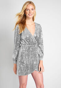Party Perfect Sequin Mini Dress in Grey