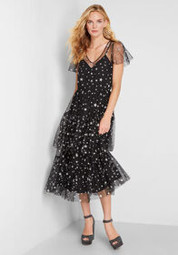 ModCloth ModCloth Tulle There Was You Midi Dress B