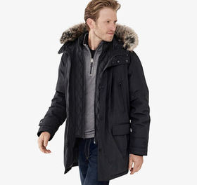 Johnston Murphy XC4® Faux-Fur Trimmed Hooded Parka