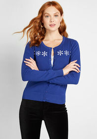 Royal Monk Go With the Snowflake Cardigan Blue