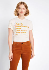 Thanksgiving Menu Graphic Tee Ivory