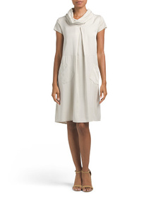MARTINA GIGLI Made In Italy Cowl Neck Wedge Dress