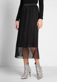 ModCloth ModCloth Tulle Next Time Midi Skirt Black