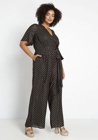 ModCloth ModCloth Luxe At Me Metallic Jumpsuit in