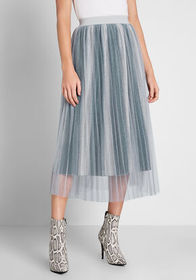 ModCloth ModCloth Tulle-d You So Midi Skirt Light