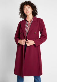 ModCloth ModCloth Along for the Ride Crepe Coat Bu
