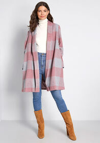 Royal Monk Royal Monk Exec in the City Plaid Coat
