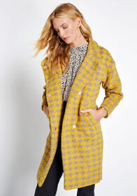 Louche Louche Maven In Motion Houndstooth Car Coat