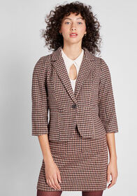 ModCloth ModCloth Informed Ensemble Plaid Blazer H
