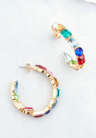 Something Fancy Hoop Earrings Multi