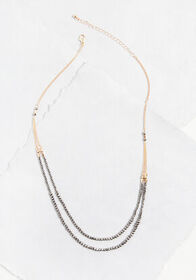 Bead My Baby Layered Necklace Black
