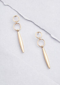 Geometry Lesson Drop Earrings Gold