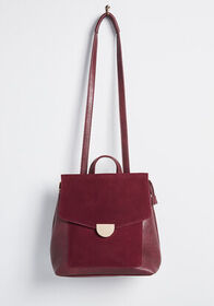 Adventurous Again Convertible Backpack in Burgundy