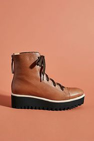 Anthropologie All Black Camping Ankle Boots