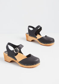 Sodermalm Saunter Leather Clog Black